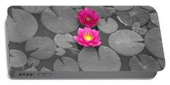 Rose Of The Water Portable Battery Charger