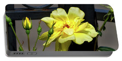 Rose On Wrought Iron Portable Battery Charger