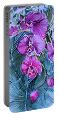 Rose Orchids Portable Battery Charger