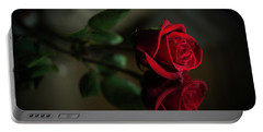 Rose Reflected Portable Battery Charger