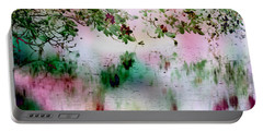 Portable Battery Charger featuring the digital art Rose Reflections by Michele A Loftus