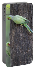 Rose-ringed Parakeets Portable Battery Charger
