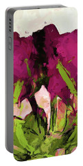 Rose Romantica Magenta Green Portable Battery Charger