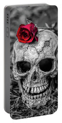 Rose Skull Portable Battery Charger