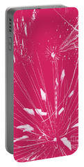 Portable Battery Charger featuring the digital art Rose Splash by Methune Hively