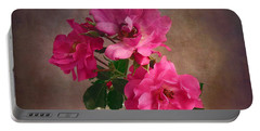 Rose Trio Still Life Portable Battery Charger by Louise Kumpf