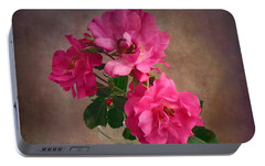 Portable Battery Charger featuring the photograph Rose Trio Still Life by Louise Kumpf