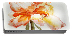 Portable Battery Charger featuring the painting Rose Yellow by Jasna Dragun