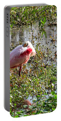 Roseate Spoonbill 000 Portable Battery Charger