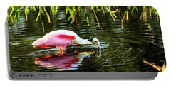 Roseate Spoonbill Feeding Portable Battery Charger