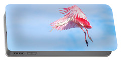 Roseate Spoonbill Final Approach Portable Battery Charger