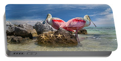 Roseate Spoonbill Florida Keys Portable Battery Charger