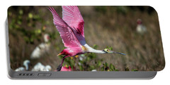 Roseate Spoonbill Flying Portable Battery Charger