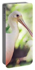 Roseate Spoonbill Portable Battery Charger by Heather Applegate