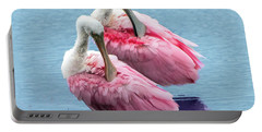 Roseate Spoonbill Pair Portable Battery Charger