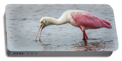 Portable Battery Charger featuring the photograph Roseate Spoonbill by Paul Freidlund