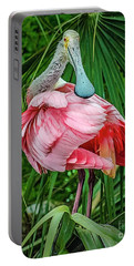 Roseate Spoonbill Preening Portable Battery Charger