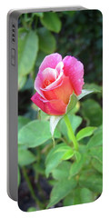 Rosebud Portable Battery Charger by Mary Ellen Frazee