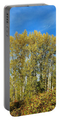 Rosehips And Cottonwoods Portable Battery Charger by Will Borden