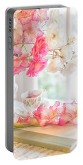 Roses And Gladiolus In Morning Light Portable Battery Charger
