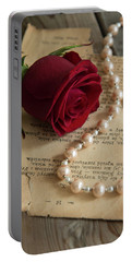 Roses And Pearls Portable Battery Charger
