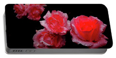 Roses And Rain Portable Battery Charger
