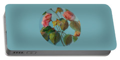 Roses And Wildflowers Portable Battery Charger