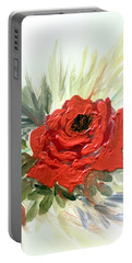Roses Are Red Portable Battery Charger by Dorothy Maier