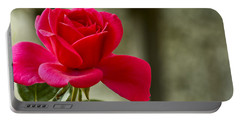 Red Rose Wall Art Print Portable Battery Charger