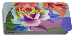Portable Battery Charger featuring the digital art Roses For Her by Eleni Mac Synodinos