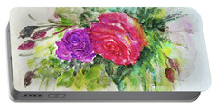 Roses For You Portable Battery Charger by Jasna Dragun