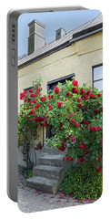 Roses Growing Near The House In A Swedish Town Visby Portable Battery Charger