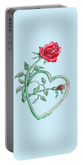 Roses Hearts Lace Flowers Transparency       Portable Battery Charger