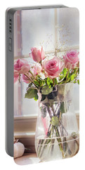 Roses In The Kitchen Portable Battery Charger by Rima Biswas