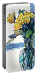 Roses In Vase Still Life I Portable Battery Charger