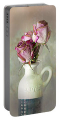 Roses In Vinegar Bottle Portable Battery Charger