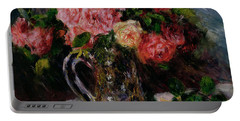 Roses Portable Battery Charger by Pierre Auguste Renoir