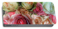 Portable Battery Charger featuring the photograph Roses- Pink And Cream by Marianna Mills