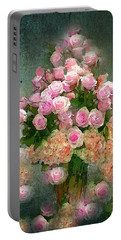 Roses Pink And Shabby Chic Portable Battery Charger