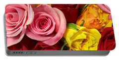 Roses Spell The Beauty Of My Son's Love Portable Battery Charger by Patricia E Sundik