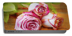 Roses Three Portable Battery Charger