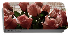 Roses With Love Portable Battery Charger