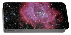Rosette Nebula In The Constellation Monoceros Portable Battery Charger by Alan Vance Ley