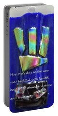 Portable Battery Charger featuring the photograph Rosh Hashanah With Mezuzah by Linda Feinberg