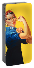 Rosie The Riveter Retro Style Portable Battery Charger