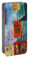 Ross Alley, Chinatown Portable Battery Charger by Tom Simmons