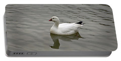 Portable Battery Charger featuring the photograph Ross's Goose by Sandy Keeton