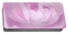 Rosy Cheek Pink Portable Battery Charger by Janice Westerberg
