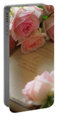 Rosy Holiday Portable Battery Charger by Rachel Mirror