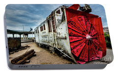 Portable Battery Charger featuring the photograph Rotary Snow Plow Vintage Train - Utah by Gary Whitton
